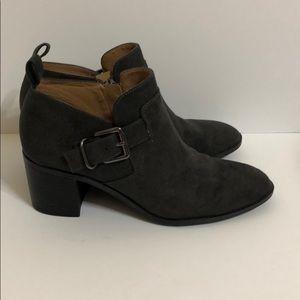 Franco Sarto Dark Grey Ankle Boots size 6.5M
